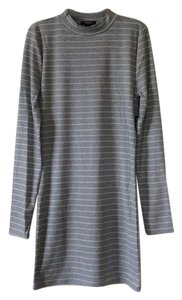 Forever 21 short dress Grey with white stripes on Tradesy