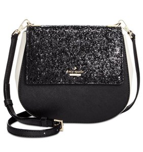 Kate Spade Leather Glitter Gold New With Cross Body Bag