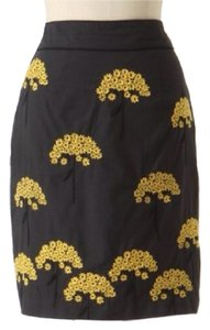 Anthropologie Floreat Embroidered Skirt GRAY