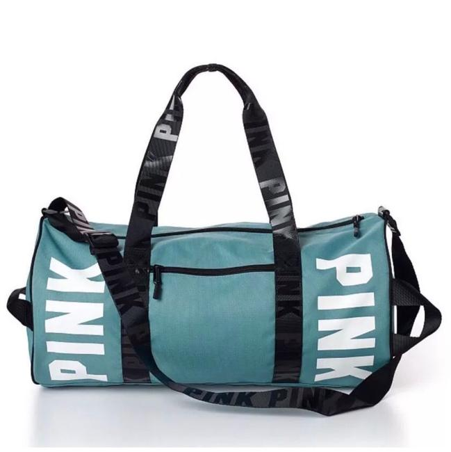 Item - Duffle Pink Logo Gym Overnight Niagara Falls Blue Green Weekend/Travel Bag