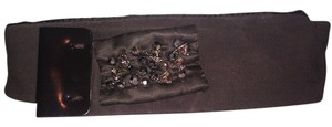 Max Mara New! Max Mara Jeweled Silk Tie Belt (M)