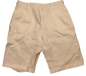 Men off white linen short size 36 Cuffed Shorts cream