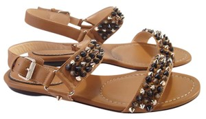 Christian Louboutin Bikee Studded Louboutin brown Sandals