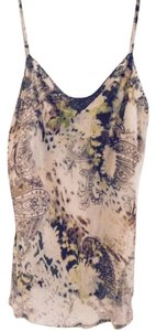 INC International Concepts Top Soft paisley, beige, brown, light blue, etc. beading on the front and straps