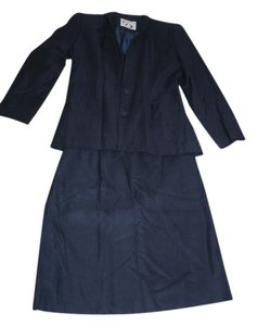 Doncaster Navy Blue Doncaster Skirt Suit
