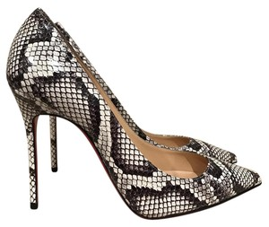 Christian Louboutin Decollete Python Snakeskin Stiletto Leather black Pumps