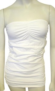 Victoria's Secret Bra Strapless Ruched Top White