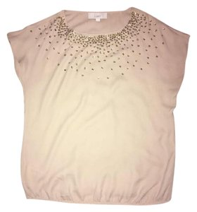Ann Taylor LOFT Top tan/gold