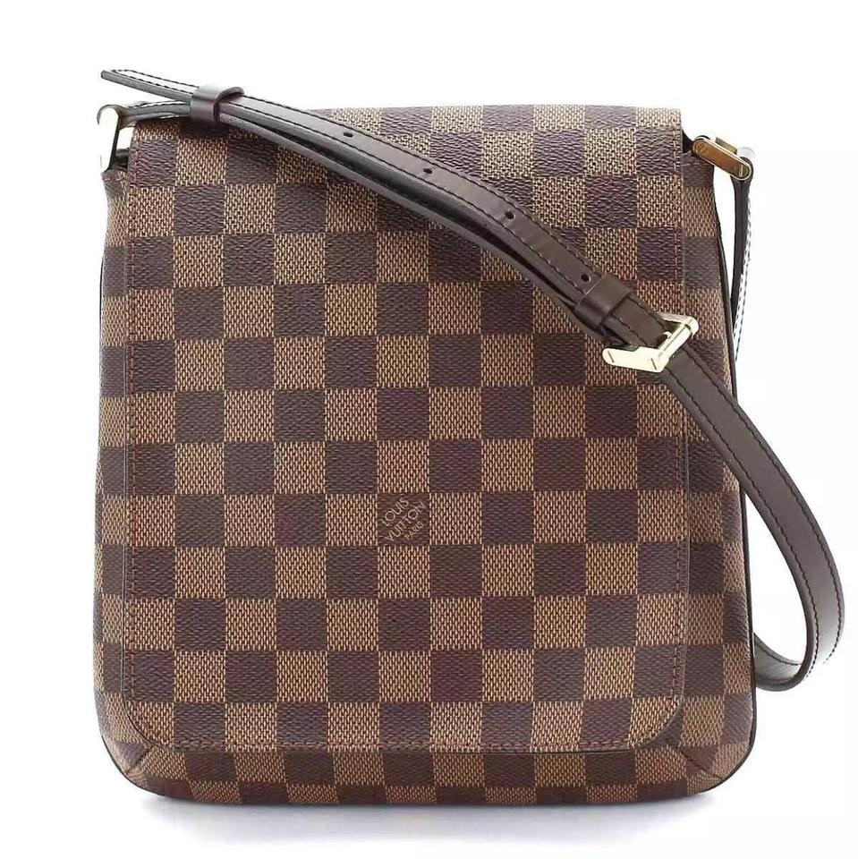 fd6b2a6bfa277 Louis Vuitton Musette New Salsa with Short Strap Damier Brown Canvas  Shoulder Bag