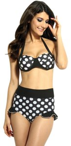 Other New's Polka Dot Sexy Halter Two-Piece Bikini Swimsuit Size:XL Item No. : Lc40634