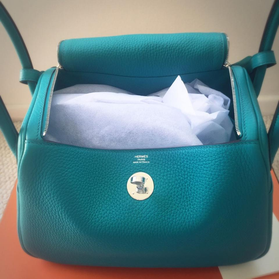 f7f8d9896d9a Hermès Lindy 2016 New Color Clemence 26 7f Silver Hardware Blue Paon  Satchel - Tradesy