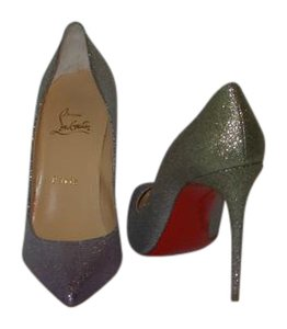 Christian Louboutin Brand New In Box SILVER Pumps