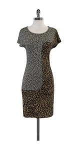 Sea New York short dress Tan Black & White Leopard Print on Tradesy