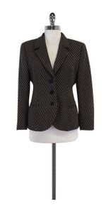Giorgio Armani Grey & Black Striped Wool Jacket