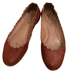 Chloé Ballet Leather Scalloped Lauren Classic brown Flats