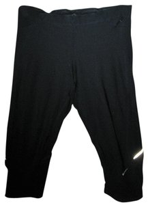 Nike Running Capri Pants - Reflective - Back Zip Pocket - Sz. Medium