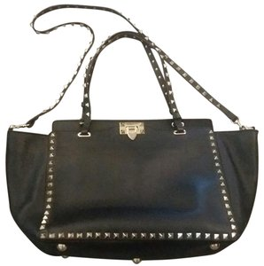 Valentino Leather Studded Tote in Black