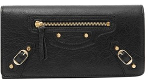 Balenciaga New Balenciaga Classic City Money Leather Wallet