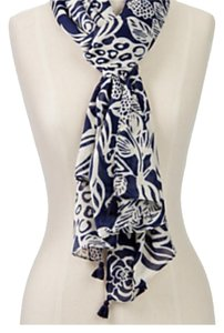 Talbots tasseled flower and fruit scarf