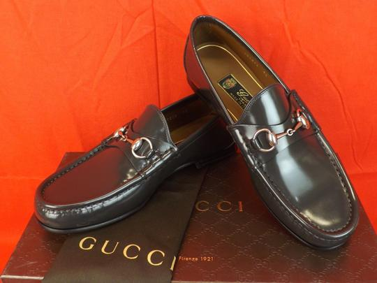 Gucci Piombo/Dark Gray Horsebit Shade Lux Leather Silver Loafers 7.5 8.5 #387598 Shoes Image 1