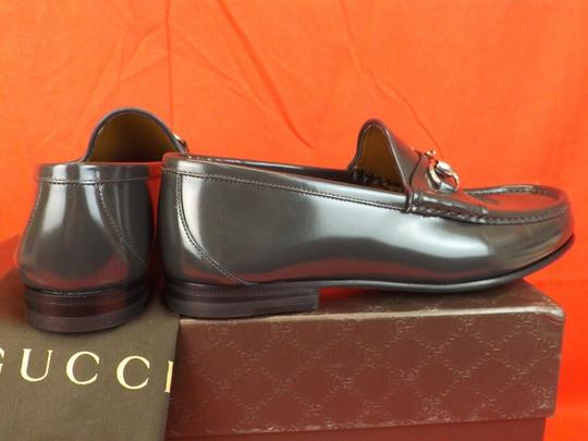 Gucci Piombo/Dark Gray Horsebit Shade Lux Leather Silver Loafers 7.5 8.5 #387598 Shoes Image 3