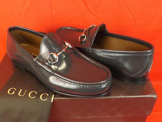 Gucci Piombo/Dark Gray Horsebit Shade Lux Leather Silver Loafers 10 11 #386598 Shoes Image 2