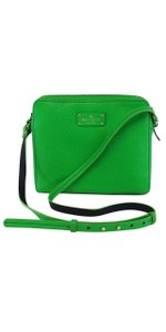 Kate Spade Kelly Green Pebbled Leather Cross Body Bag