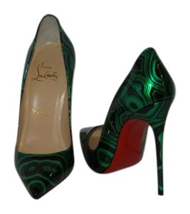 Christian Louboutin GREEN AND BLACK Pumps