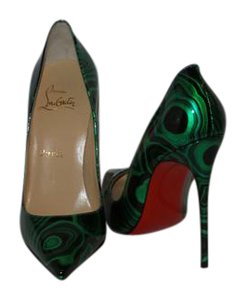 Christian Louboutin New In Box GREEN AND BLACK Pumps