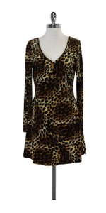 Betsey Johnson short dress Leopard Print Velvet Long Sleeve on Tradesy
