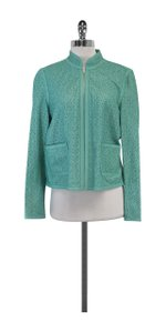 Doncaster Turquoise Leather Laser Cut Jacket