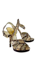 Michael Kors The Jet Set 6 Snakeskin Heels Sandals