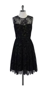 Erin Fetherston short dress Black Metallic Lace Sleeveless Flared on Tradesy