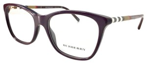 Burberry Maroon House Check Optical Eyeglasses