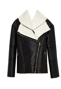 Alice + Olivia Leather & Modern Zippers Leather Jacket