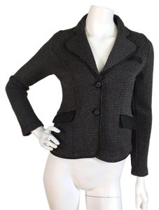 525 America Leather Elbow Patches Black Gray Blazer