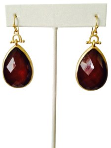 Amrita Singh Faceted Dark Rust Resin Earrings