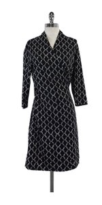 J.McLaughlin short dress Black & Grey Print Cropped Sleeve on Tradesy