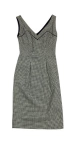 Diane von Furstenberg short dress Black & Cream Houndstooth Wool on Tradesy