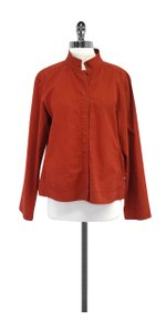 Eileen Fisher Rust Orange Cotton Jacket