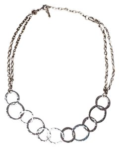 Charming Charlie Hammered gold-tone circles necklace