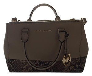 Michael Kors Satchel in Natural with snake Print