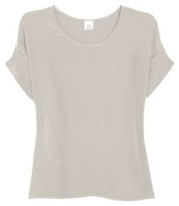 Iris & Ink Bisque Silk Shell Top Beige