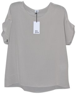 Iris & Ink Silk Shell Joie Vince Top Beige