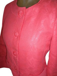 Talbots Pink High Quality Made In Italy Coral /peach Blazer