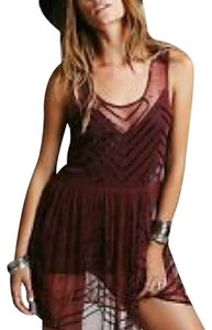 Free People Top Red and black