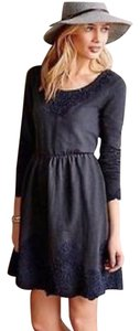 Anthropologie short dress Grey and dark blue on Tradesy