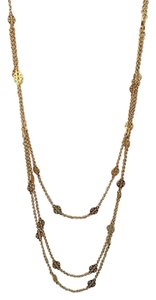 Tory Burch multi strand logo necklace