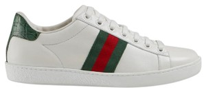 Gucci Ace Stripe Croc Low Top white Athletic