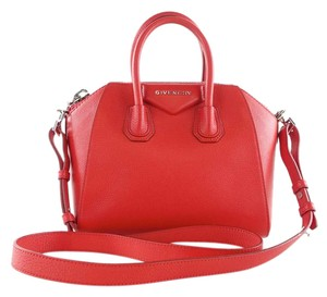 Givenchy Cross Body Leather New Satchel in Red